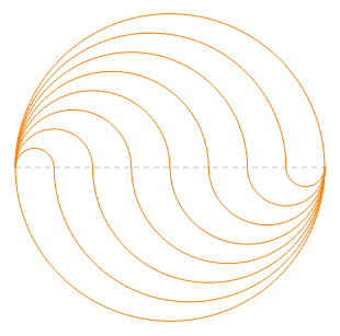 Circle with 8 equal regions4
